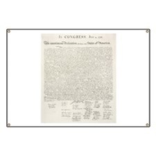 United States Declaration of Independence Banner