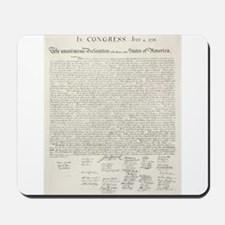 United States Declaration of Independence Mousepad