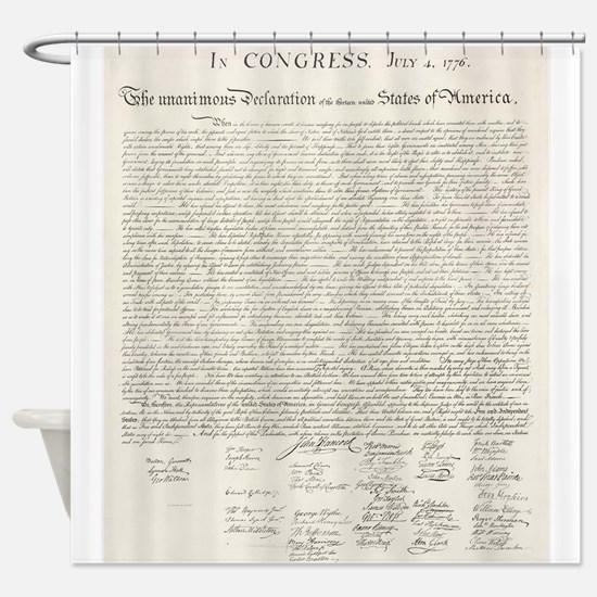 United States Declaration of Independence Shower C