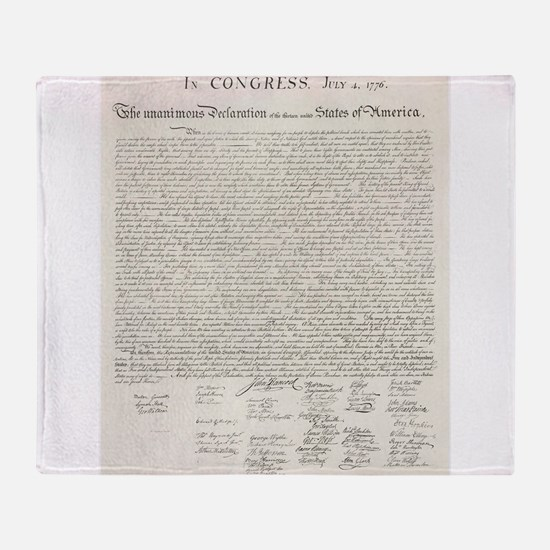 United States Declaration of Independence Throw Bl