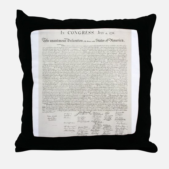 United States Declaration of Independence Throw Pi