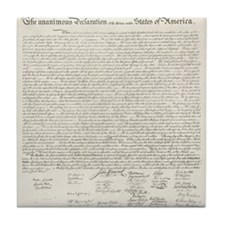 United States Declaration of Independence Tile Coa