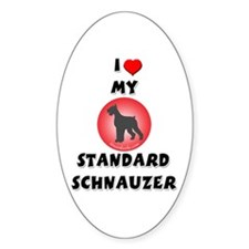 Standard Schnauzer Oval Decal