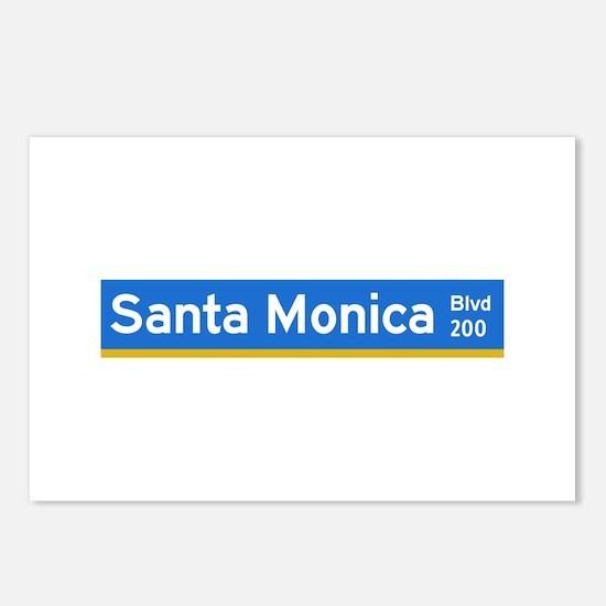 Santa Monica Blvd., Los Angeles - USA Postcards (