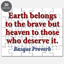 Earth Belongs To The Brave Puzzle