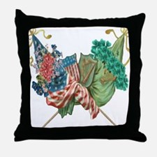 Irish American Unity Throw Pillow