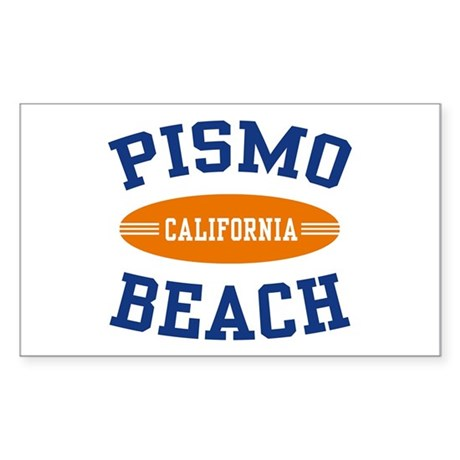 Pismo Beach California Rectangle Sticker