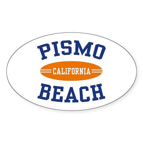 Pismo Beach California Oval Sticker