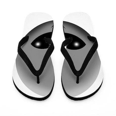alien head Flip Flops