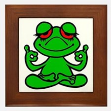 Frog Lotus Framed Tile