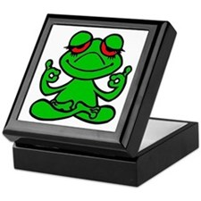 Frog Lotus Keepsake Box
