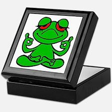 Frog Lotus Keepsake Box