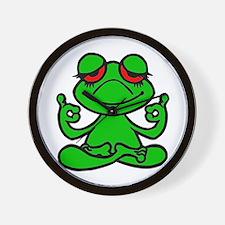 Frog Lotus Wall Clock