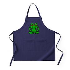 Frog Lotus Apron (dark)