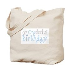 My Onederful Birthday (boy) Tote Bag