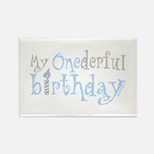 My Onederful Birthday (boy) Rectangle Magnet