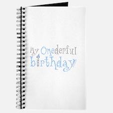 My Onederful Birthday (boy) Journal