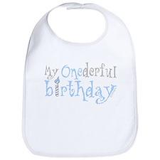 My Onederful Birthday (boy) Bib