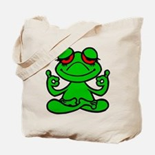 Frog Lotus Tote Bag