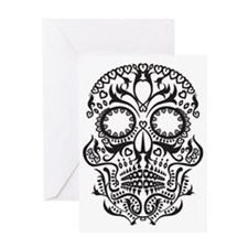 Day of The Dead/White Greeting Card