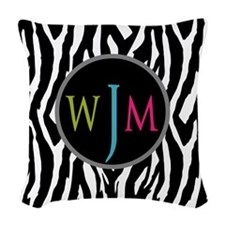 Stylish Monogram Woven Throw Pillow