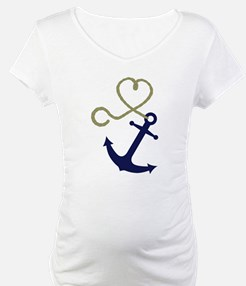 Blue Anchor with Heart Rope Shirt
