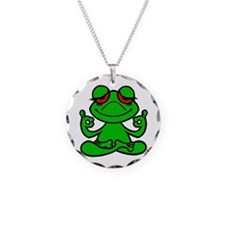 Frog Lotus Necklace