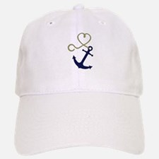 Blue Anchor with Heart Rope Baseball Baseball Baseball Cap