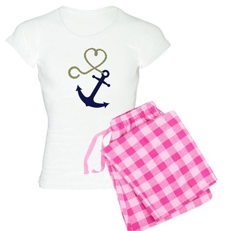 Blue Anchor with Heart Rope Pajamas
