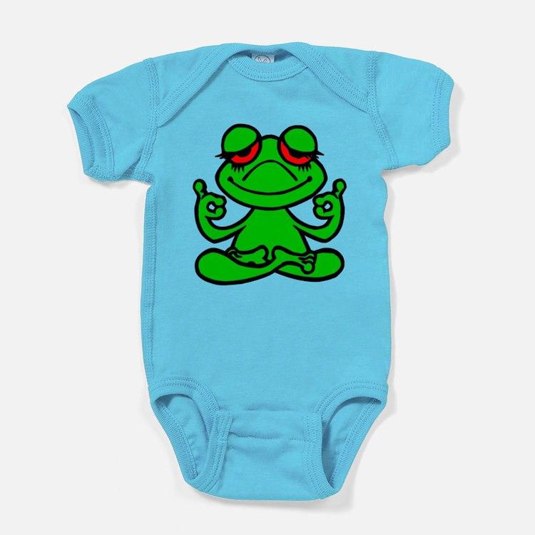 Frog Lotus Baby Bodysuit