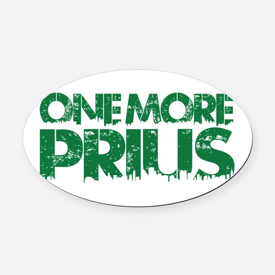 One More Prius Transparent green Oval Car Magnet