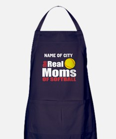 Personalize Softball Mom Apron (dark)