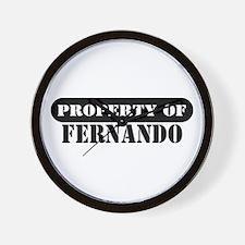 Property of Fernando Wall Clock