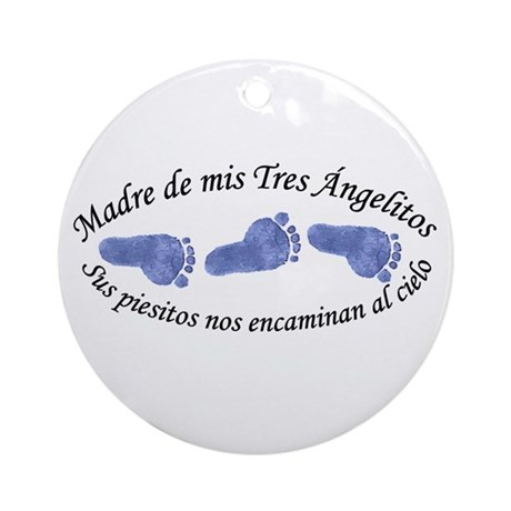 Madre de Tres Angelitos Ornament (Round)