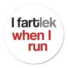Funny I FARTlek © Round Car Magnet