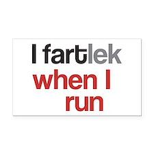 Funny I FARTlek © Rectangle Car Magnet
