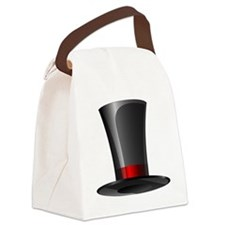 Magician Top Hat   Canvas Lunch Bag