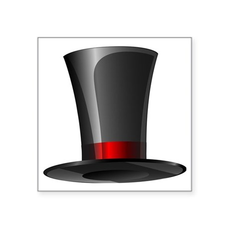 "Magician Top Hat Square Sticker 3"" x 3"""