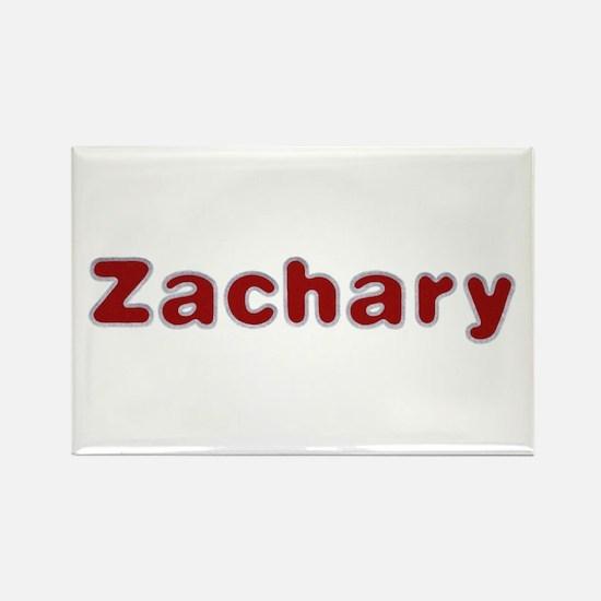 Zachary Santa Fur Rectangle Magnet