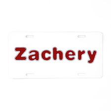 Zachery Santa Fur Aluminum License Plate