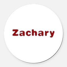 Zachary Santa Fur Round Car Magnet