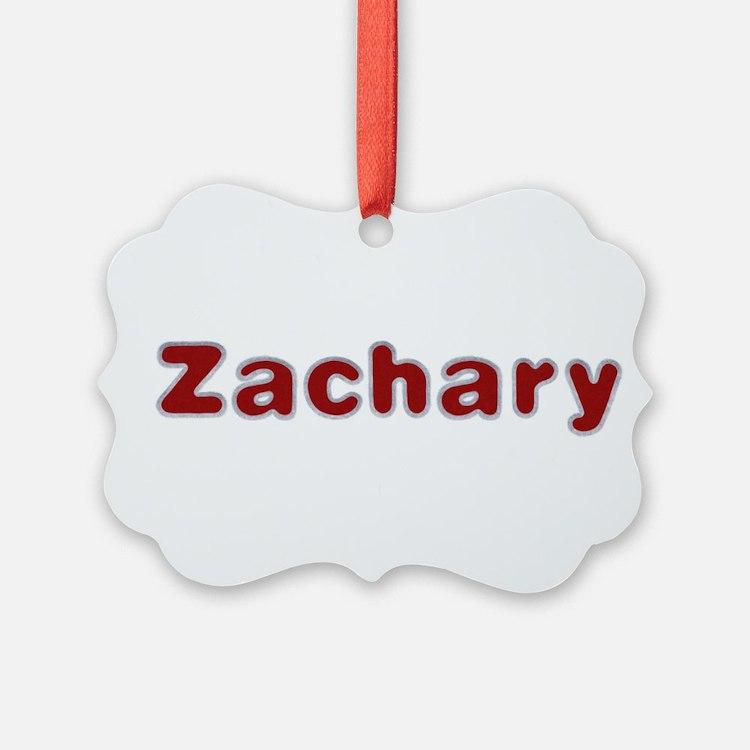 Zachary Santa Fur Ornament