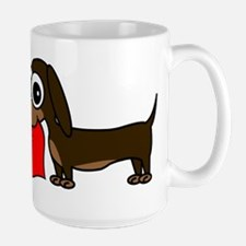 Cute Dachshund with Heart Mugs