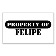 Property of Felipe Rectangle Decal