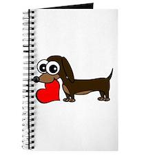 Cute Dachshund with Heart Journal