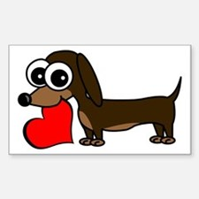 Cute Dachshund with Heart Decal