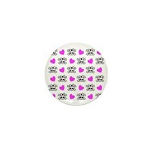 Cutie Skulls  Mini Button