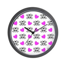 Cutie Skulls  Wall Clock