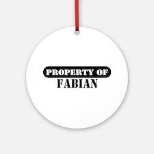 Property of Fabian Ornament (Round)