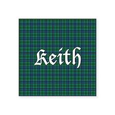 "Tartan - Keith Square Sticker 3"" x 3"""